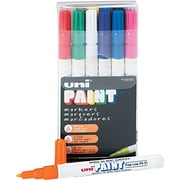 Uni® Paint Markers, Fine Point, Assorted Colors, 12/pk (SAN63721)