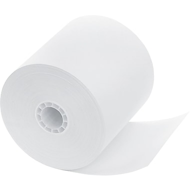 PM Company  Impact Bond Cash Register/POS Paper Roll, White, 3 1/4in.(W) x 240'(L), 5/Pack