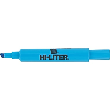Avery HI-LITER Desk Style Highlighters, Chisel Tip, Fluorescent Blue, Dozen