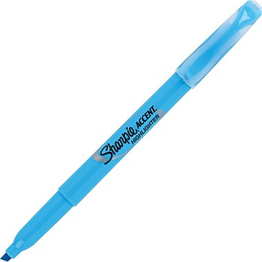 Sharpie® Accent Pocket Style Highlighter, Chisel Tip, Blue