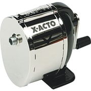 X-ACTO ® Model L ® Table Mount Pencil And Crayon Sharpener, Black/Chrome