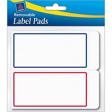Avery® 2in.(W) x 4in.(L) White Removable Label Pads