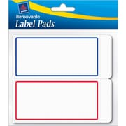 Avery® Removable Label Pad, White, Blue/Red Borders, 2(W) x 4(L)