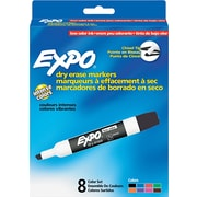 EXPO ® Low Odor Dry Erase Marker, Chisel Tip, Assorted, 8/Pack