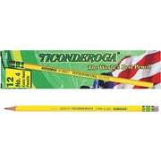 Ticonderoga ® Woodcase Pencil, 2H, No. 4, Yellow Barrel, 12/Pack