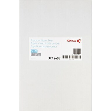 "Xerox® Revolution™ Premium Never Tear™, 7.7 mil, 12"" x 18"", Box"