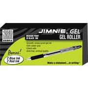 Zebra Jimnie ® Gel Stick Roller Ball Pen, 0.7 mm Medium, Black, 24/Pack