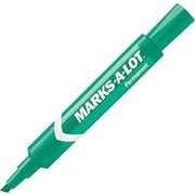 Avery Marks-A-Lot Chisel Point Permanent Marker, Green, 12/Pack
