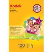 "Kodak Photo Paper, White, 4""(W) x 6""(L), 100/Pack"