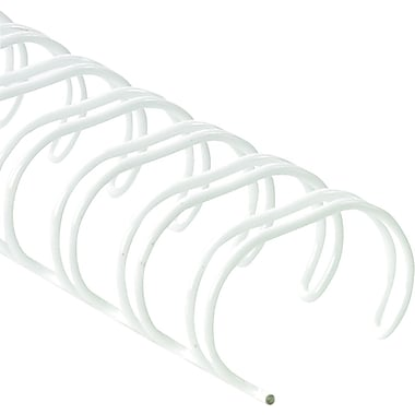 Fellowes ® Wire Binding, 3/8in.(Dia), 80 sheet capacity, White, 25/Pack