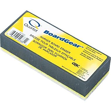 Quartet ® BoardGear Marker Dry Board Eraser, Foam Pad, 1in.(H) x 5in.(W) x 3in.(D)