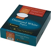 SOUTHWORTH® 25% Cotton Diamond White® Business Paper, 8 1/2 x 11, 20 lb., Wove Finish, White, 500/Box