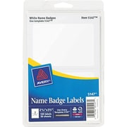 Avery  5147 Printable Self-Adhesive Name Badge Label, White Border, 2 11/32(W) x 3 3/8(L)