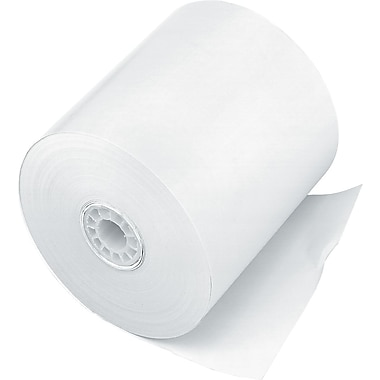 PM Company® Impact Bond Cash Register/POS Paper Roll, White, 3in.(W) x 150'(L), 50/Ctn