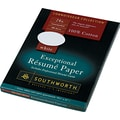 Southworth® 100% Cotton Resume Paper, White, 8 1/2in.(W) x 11in.(L), 100/Box