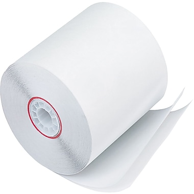PM Company ® Impact Printing Carbonless Paper Roll, White, 3in.(W) x 90'(L), 50/Ctn