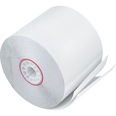 PM Company ® Impact Printing Carbonless Paper Roll, White, 2 1/4in.(W) x 90'(L), 50/Ctn