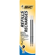 BIC Medium Ballpoint Refill For Most BIC Ballpoint Pens, 2/Pack, Blue