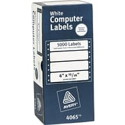 Avery® 4065 White Dot Matrix Printer Address Label, 4(W) x 15/16(L), 5000/Box
