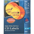 Avery ® 8960 Matte White Full-Face CD Label, 40/Pack