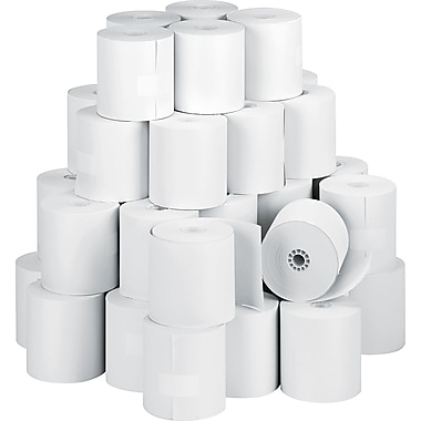 PM Company  Direct Thermal Printing Cash Register/POS Paper Roll, 3 1/8in.(W) x 273'(L), 50/Ctn