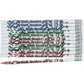 Moon Products Woodcase Pencil, HB-Soft, No. 2 Lead, White Barrel, Sixth Graders Are #1, 12/Pack