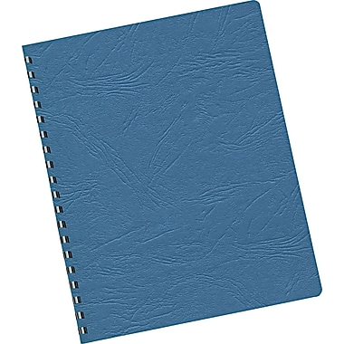 Fellowes ® Expressions Grain Texture Presentation Cover, 8 3/4in.(W) x 11 1/4in.(L), Navy