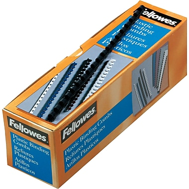 Fellowes ® Plastic Comb Binding, 5/16in.(Dia), 40 Sheets, Navy