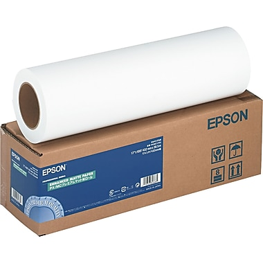 Epson ® Enhanced Photo Paper Roll, Bright White, 17in.(W) x 100'(L), 1/Roll
