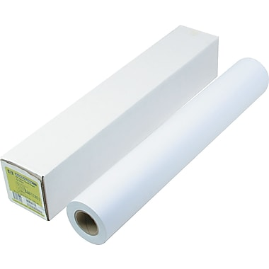 HP Designjet Large Format Paper For Inkjet Printers, White, 24in.(W) x 150'(L), 21 lbs., 1/Roll