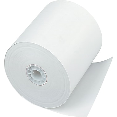 PM Company® Direct Thermal Printing Cash Register/POS Paper Roll, 3in.(W) x 225'(L), 24/Ctn