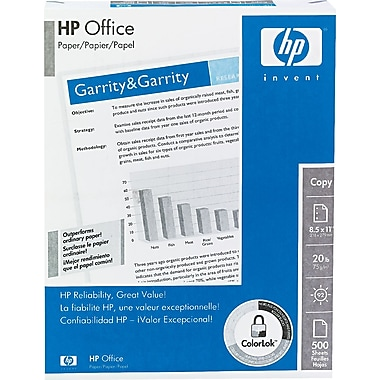 HP Office Paper, White, 8 1/2