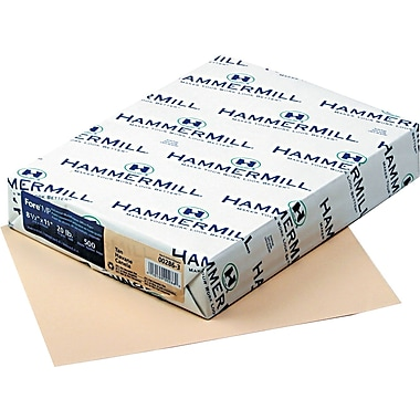 HammerMill® Fore® MP Color Paper, 8 1/2in. x 11in., Tan, Ream