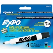 EXPO® Dry Erase Marker, Bullet Tip, Assorted, 4/Set