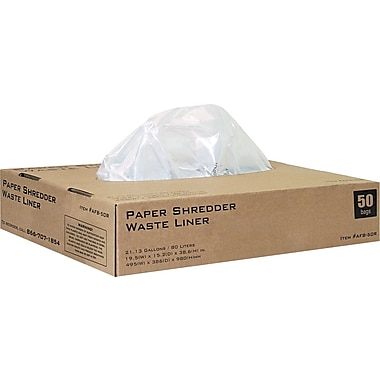 INTEK BOXIS AutoShred Clear Shredder Bag, 22 gal, 38 1/2in.(H) x 19 1/2in.(W) x 38 1/2in.(D)