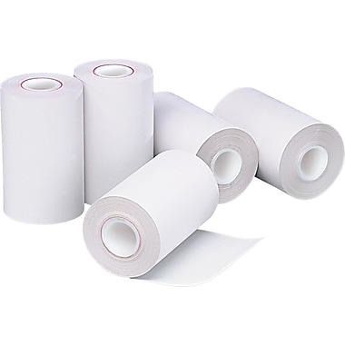PM Company® Direct Thermal Printing Cash Register/POS Paper Roll, 2 1/4in.(W) x 55'(L), 5 Rolls/Pack