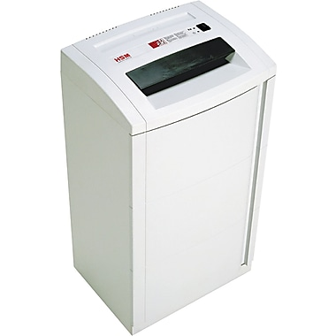 HSM of America 125.2hsL6 Continuous-Duty High-Security Shredder, 7 Sheet Capacity, 26 ft / min Speed