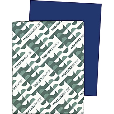 Wausau Paper  Astrobrights  Colored Card Stock, Blast-Off Blue , 8 1/2in.(W) x 11in.(L), 250 Sheets
