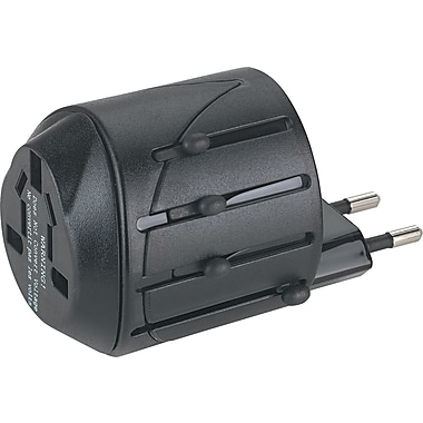 Kensington® International Travel Plug Adapter/AC Outlet For Notebook/PC/Cell Phone, 110V