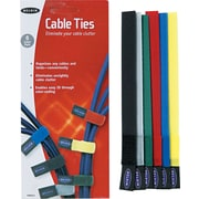 Belkin® Multicolored Organizer Cable Tie, Assorted, 6/Pack