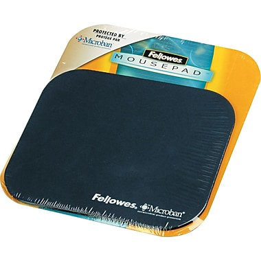 Fellowes® Polyester Mouse Pad, Nonskid Rubber Base, Navy, 8in.(D)