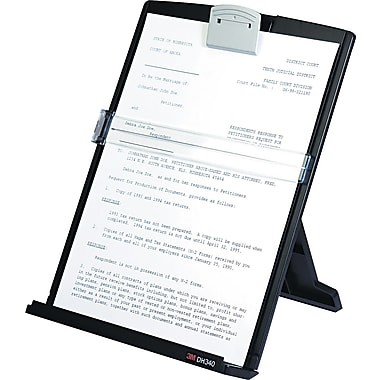 3M Desktop Document Holder, Black, 12