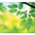 Fellowes® Recycled Mouse Pad, Nonskid Rubber Base, Leaves, 7 1/2in.(D)