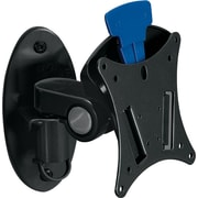 BALT ® Low Profile Ergonomic Wall Mount, Black, Up To 23 Monitor, 29 lbs.