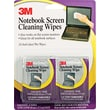 3M Notebook Screen Cleaning Wipe, Unscented, White, 4in.(W) x 7in.(L), 24 / Pack
