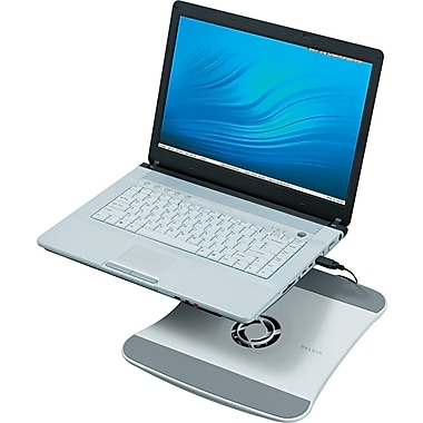 Belkin® Laptop Cooling Stand With Wave Design, 1 3/8in.(H) x 11 1/2in.(W) x 12 1/2in.(D), White
