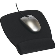 3M Antimicrobial Foam Mouse Pad With Wrist Rest, Black, 6 3 / 4(D)