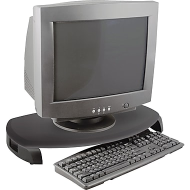 Kantek CRT/LCD Stand With Keyboard Storage, Black, 3in.(H) x 23in.(W) x 13 1/4in.(D), 80 lbs.