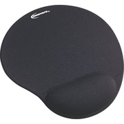 Innovera® Gel Mouse Pad With Wrist Rest, Black, 8 7/8(D)