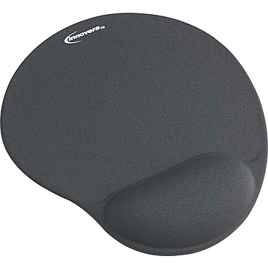 Innovera® Gel Mouse Pad With Wrist Rest, Gray, 8 7/8in.(D)